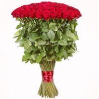 Букет из 51 розы «Красная роза 90 см»