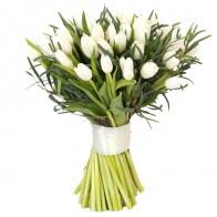 Букет из 51 тюльпана «Белый»