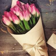 Букет тюльпанов «Цвет на выбор»