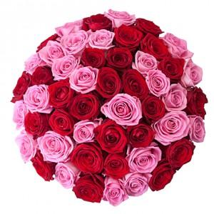 """Букет из 51 розы """"Малиновый рай"""""""