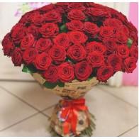 101 роза в крафте