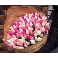 101 тюльпан в крафте