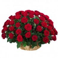 Корзина из 51 красной розы