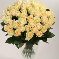 101 кремовая роза 60 см СПБ