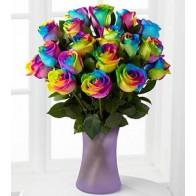 Букет радужных роз СПБ