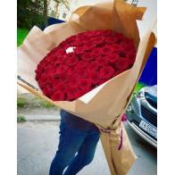 Букет гигант из красных роз