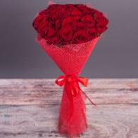 """Букет из 25 роз """"Цвет на выбор"""""""