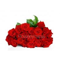 Букет красных роз 19 шт.