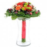 Букет цветов «Божья коровка»