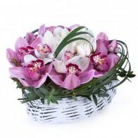 Сердце с орхидеями «Мой ангел»