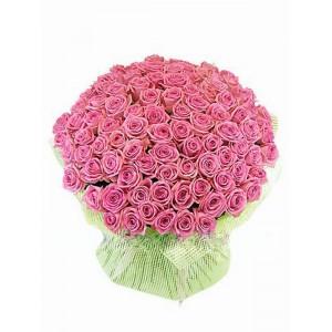 101 розовая роза 60 см СПБ