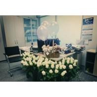 101 роза на день рождение сотрудника, коллеги