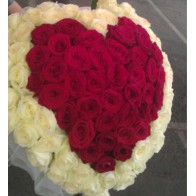 101 роза сердце СПБ