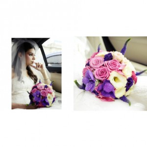 Букет невесты «Искушение цвета»