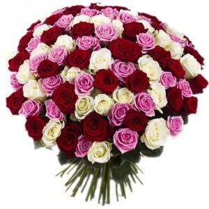 Мозаика любви (101 роза)