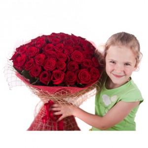 Букет роз «Огонь любви» (51 Гран при)
