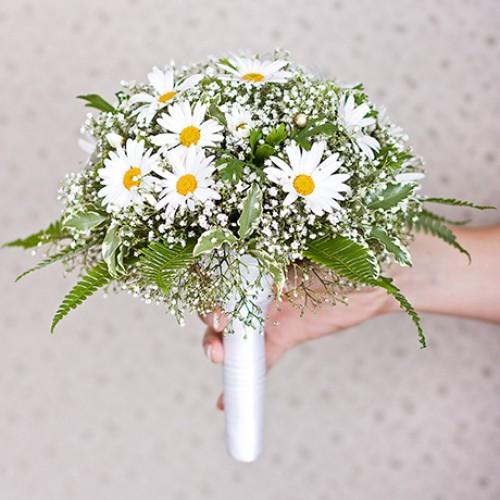 Главная букет невесты из ромашек