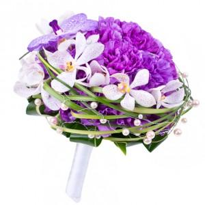Букет невесты «Лиловое море»