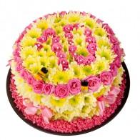 Композиция «Цветочный тортик»