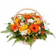Корзина «Оранжевое лето»