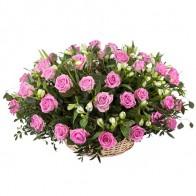 Корзина «Розовый сад»