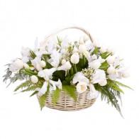 Корзинка с тюльпанами «Для самой нежной»