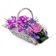 Корзинка орхидей «Райское удовольствие»