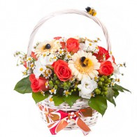 Корзинка цветов «Пчелки»