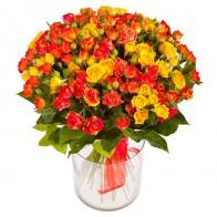 Букет из кустовых роз «Дайкири»