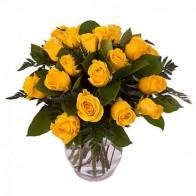 Букет из желтых роз «Солнечный взрыв»