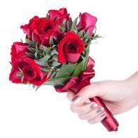 Букет невесты «Малиновый аромат»
