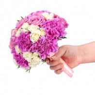 Букет невесты «Розовый бархат»