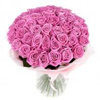 Букет «Розовый восторг» (51 роза)