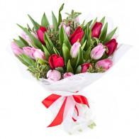 Букет «Тюльпановый сюрприз» (25 шт.)