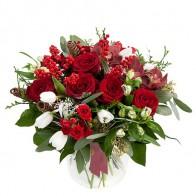 Букет цветов «Красное вино»