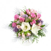 Букет цветов «Зимний рассвет»
